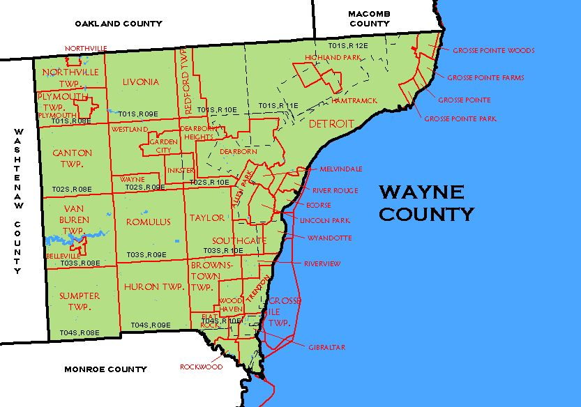Michigan Wayne County Every County - Michigan map with counties